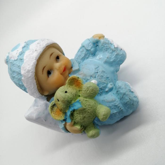 Marturie de botez Vision, bebelus baiat, albastru [1]