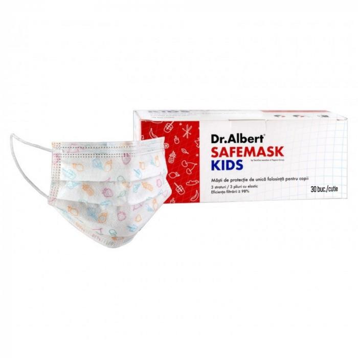 Masca de protectie de unica folosinta pentru copii FMK 1405 Vision, 30 bucati/set + o viziera Face Shield cadou [2]