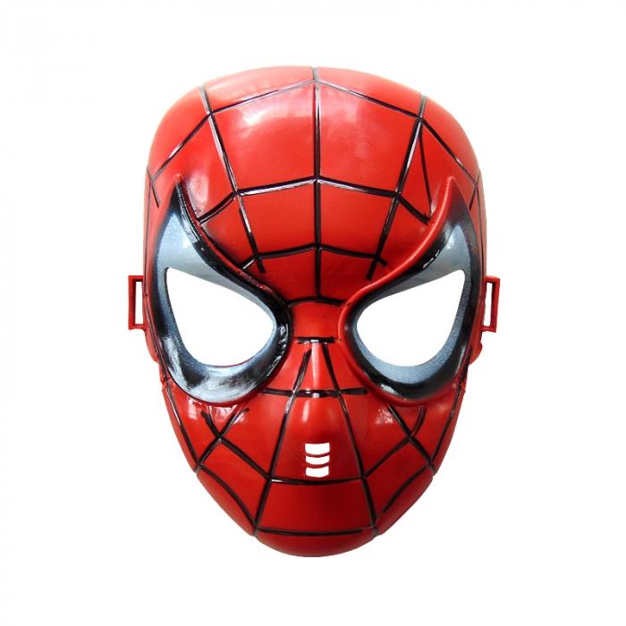 Masca Spiderman din plastic, Vision, cu  banda elastica neagra [0]