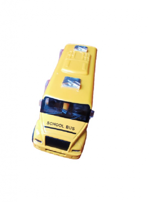 Masinuta de metal Vision, autobuz scolar, scara 1:32 [3]