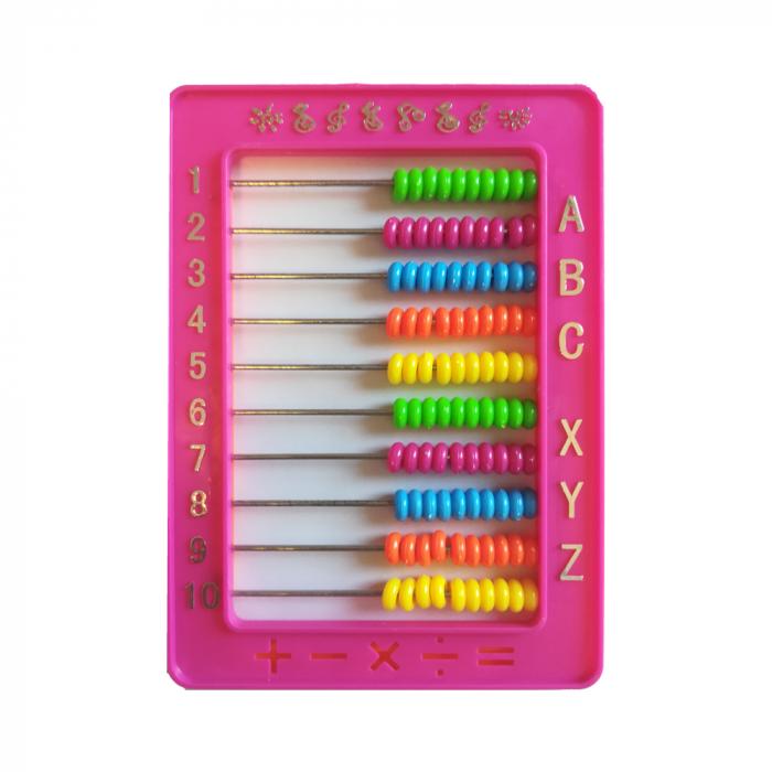 Numaratoare de plastic roz cu 100 bile-Vision [0]