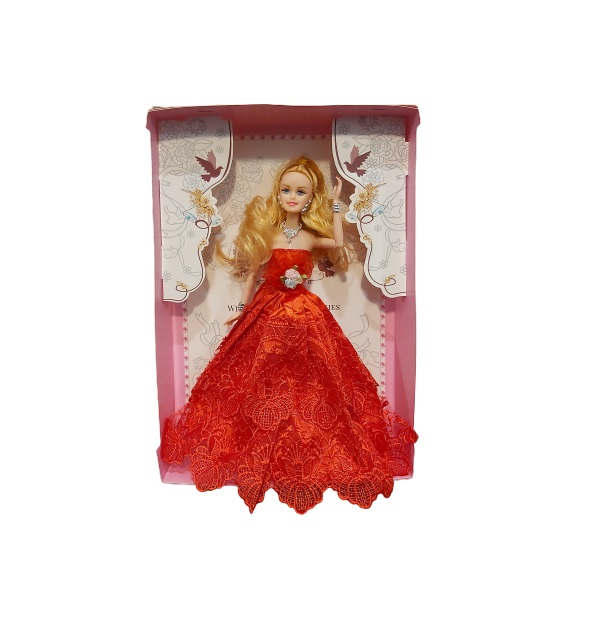Papusa printesa, cu rochie rosie Vision [0]