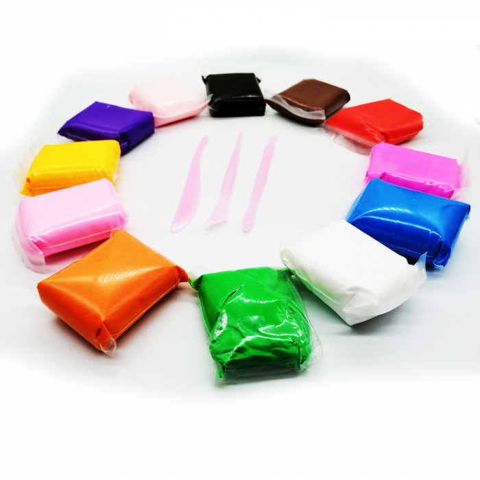 Plastilina usoara Magic Clay 12 culori Vision [3]