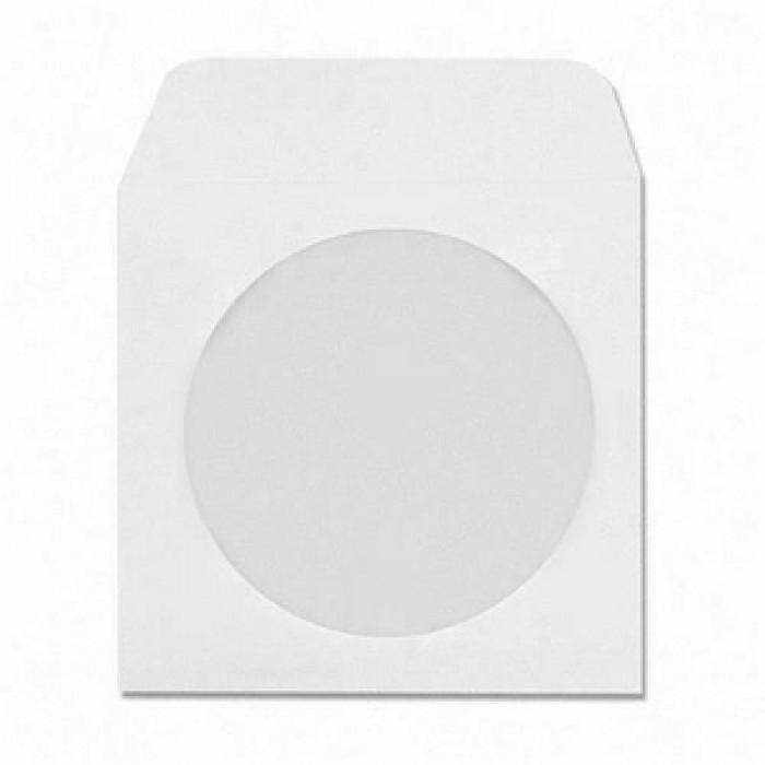 Plic CD/DVD, Vision, cu fereastra, alb [0]