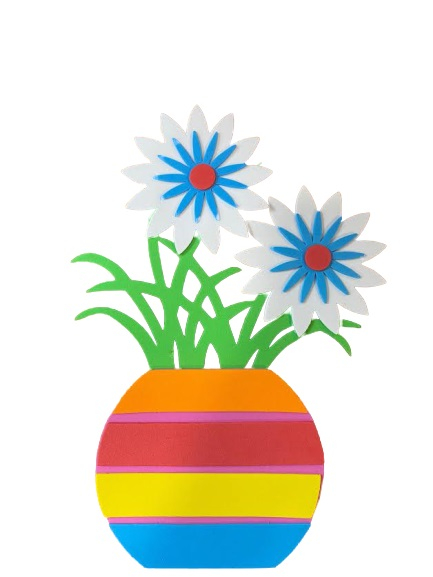 Poster de perete Vision, buretat cu flori multicolore [0]