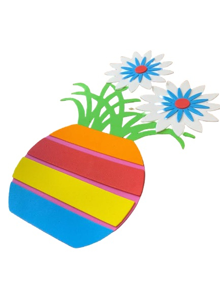 Poster de perete Vision, buretat cu flori multicolore [1]