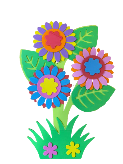 Poster Vision, cu flori multicolore 30x20cm [0]
