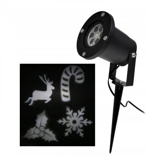 Proiector Laser Vision cu diapozitiv rezerva, Interior/Exterior, Efecte de Lumini pentru Craciun, Culoare Lumini Alb, Rosu, Verde, Albastru [2]
