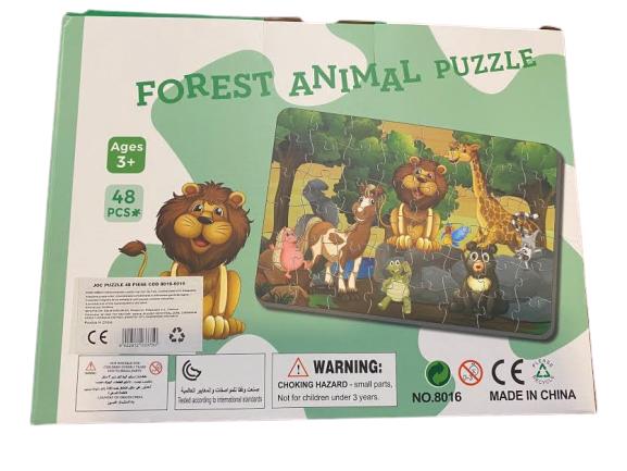 Puzzle cu  48 de piese, Forest Animal Puzzle- Vision 42 x 28 cm [1]