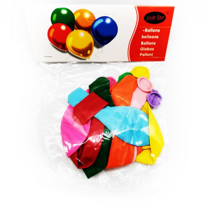 Set 10 baloane clasice Vision, multicolor [8]