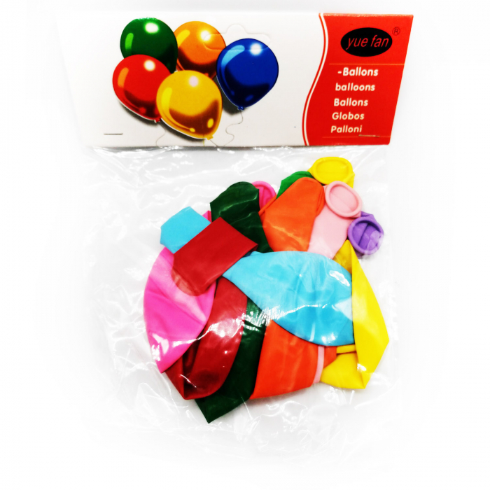 Set 10 baloane clasice Vision, multicolor [0]