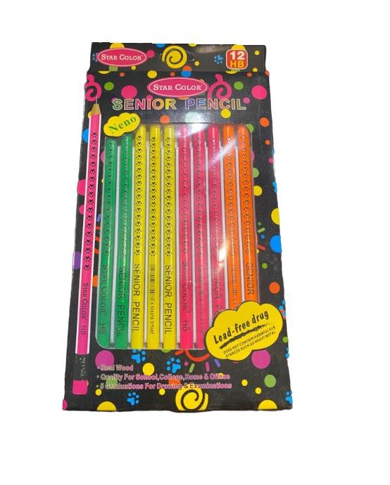Set 12 buc creioane de lemn HB-Vision [0]