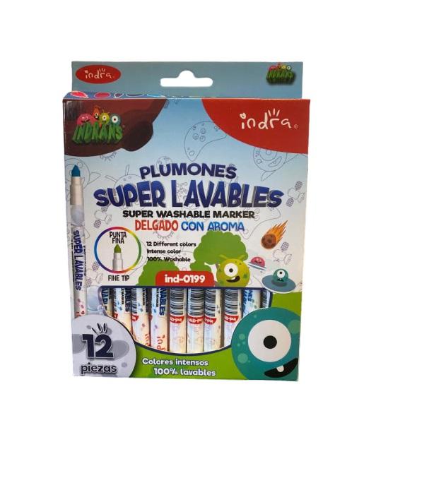 Set 12 carioci Super Lavabile Vision, culori intense si aromate [0]