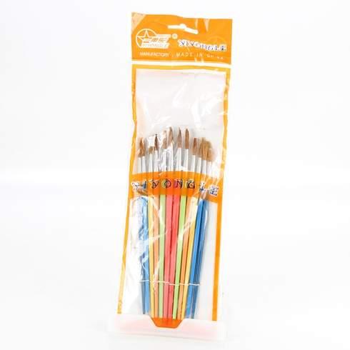 Set 12 pensule Vision, multicolore, coada de veverita, marimi diferite [0]