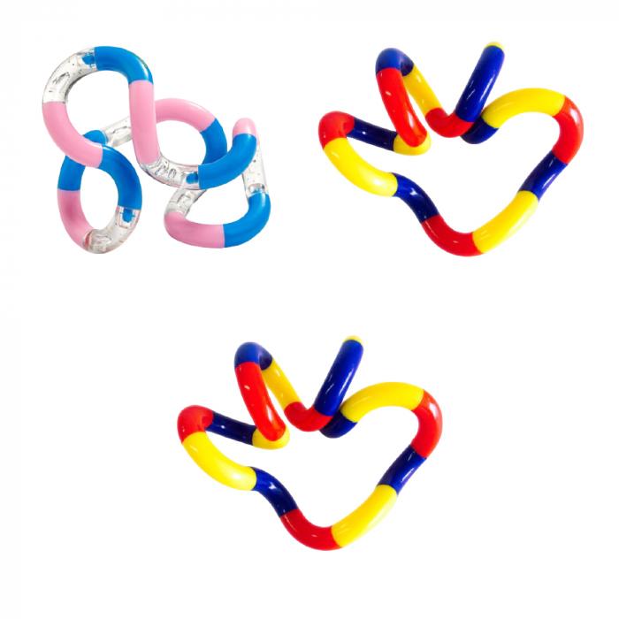 Set 3 Jucarii Tangle Zenuk Vision - Fidget Toy, Antistres, Verde/Multicolor [0]