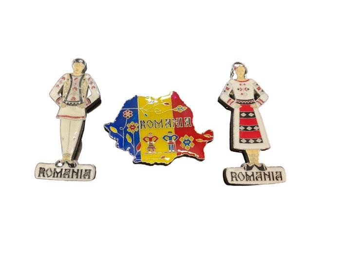 Set 3 magneti de frigider- Vision cu motive nationale romanesti [1]