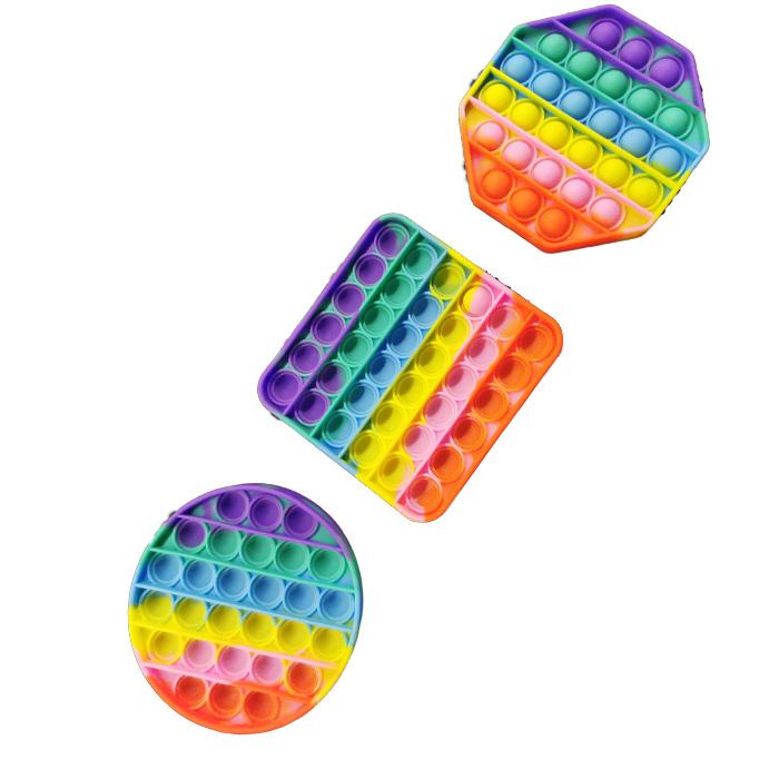 Set 3 x Jucarii POP IT!, Antistres, din silicon, Forme diferite, Multicolor - Vision® [0]