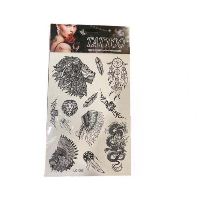 Set cu tatuaje temporare Vision, alb-nergu, 23 cm [0]