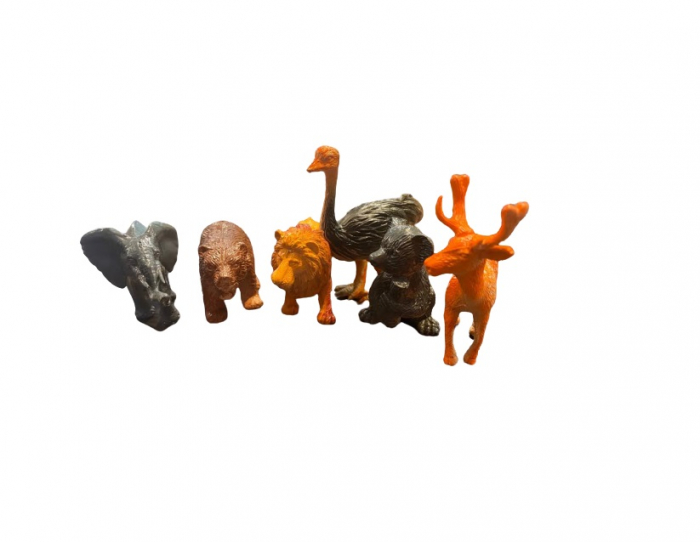 Set de 6 animale salbatice, 7 cm Vision [0]