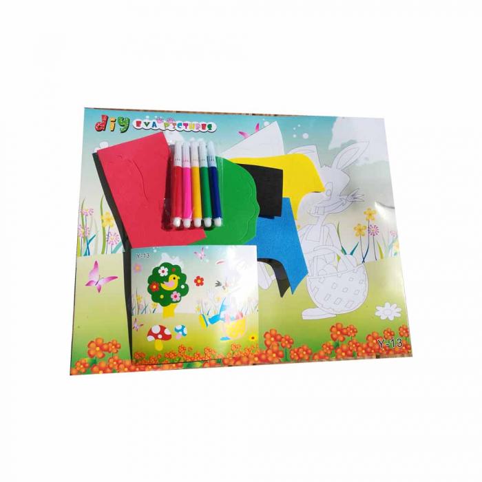 Set de creatie pentru copii  Vision - Tablou din carton buretat autocolant cu set de carioci [0]