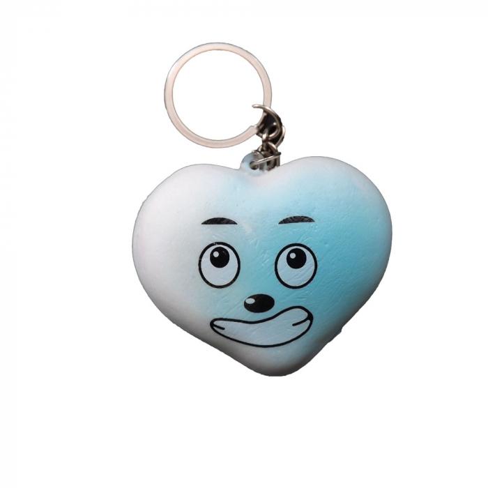 Squishy jucarie antistres Vision,  pentru copii peste 8 ani - breloc smiley inimioara [0]