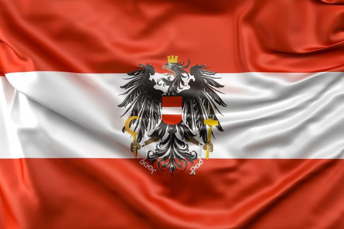 Steag Austria cu stema - Vision, poliester, marime 150x90cm [0]