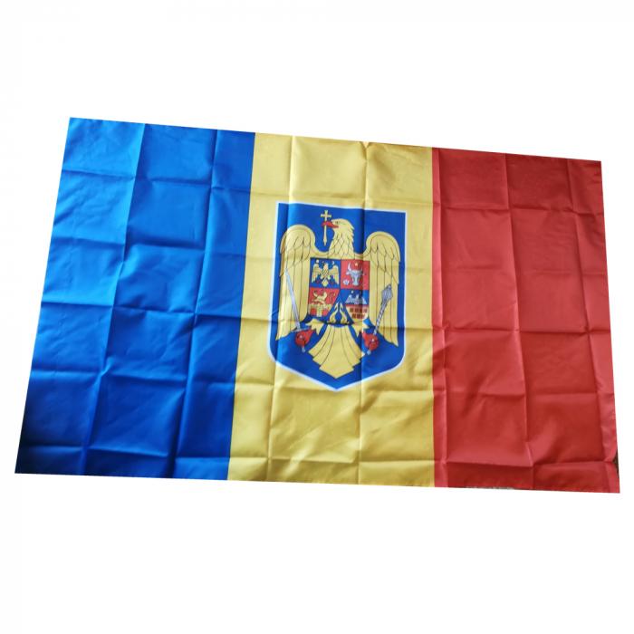 Steag Romania cu stema Vision, dimensiune 150x90cm [0]
