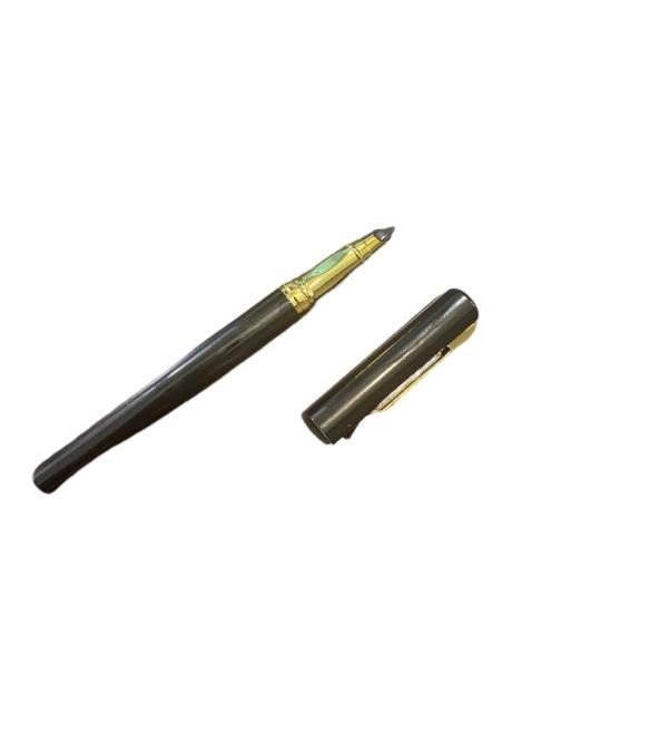 Stilou negru Vision 2841, penita ascunsa, dual, rezervor si patron [1]