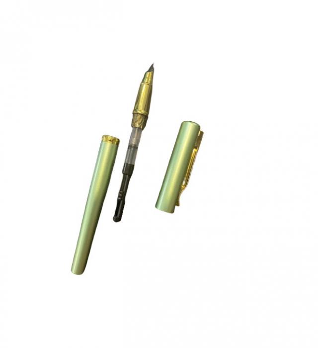 Stilou verde Vision 284, penita ascunsa, dual, rezervor si patron [1]