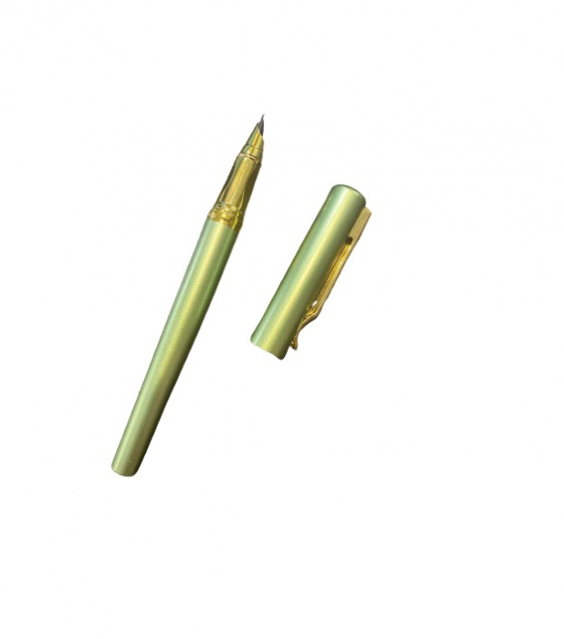 Stilou verde Vision 284, penita ascunsa, dual, rezervor si patron [2]