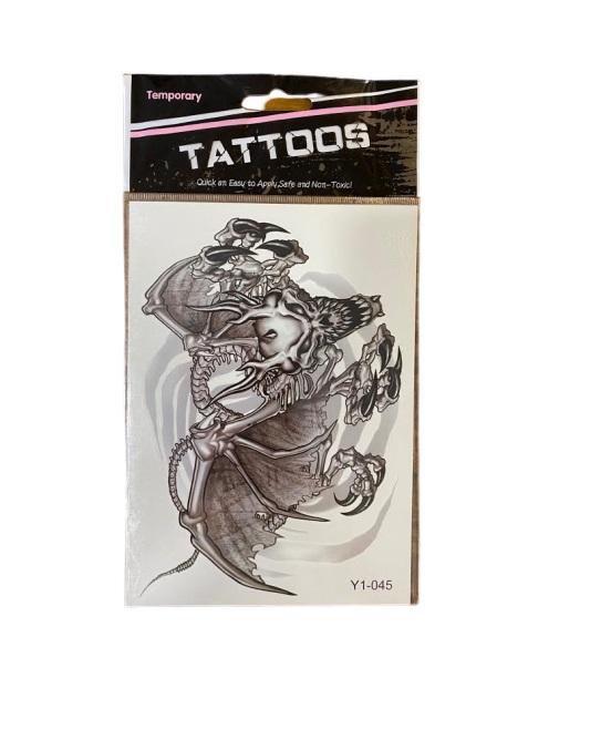 Tatuaj temporar Vision, alb-negru, 17 cm [0]