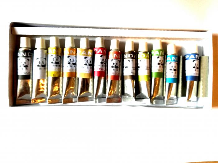 Tempera apa 12 culori in tub 12 ml PANDA -Vision [1]