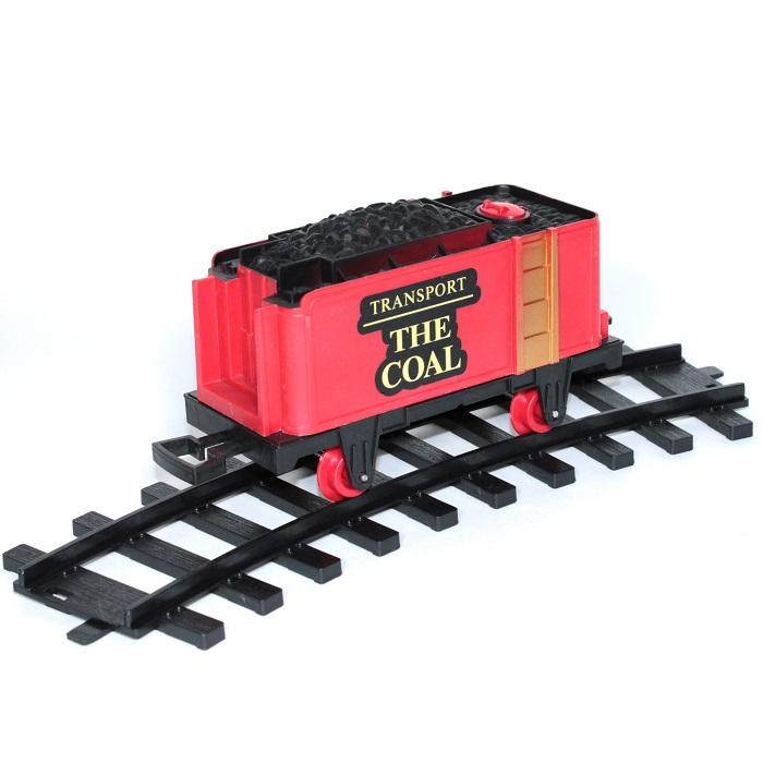 Tren cu radiocomanda Vision, locomotiva clasica cu aburi, vagon de carbuni [3]