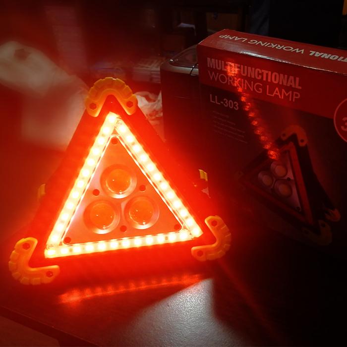 Triunghi reflectorizant Vision, lampa multifunctionala cu 3 faze LED de iluminare [1]