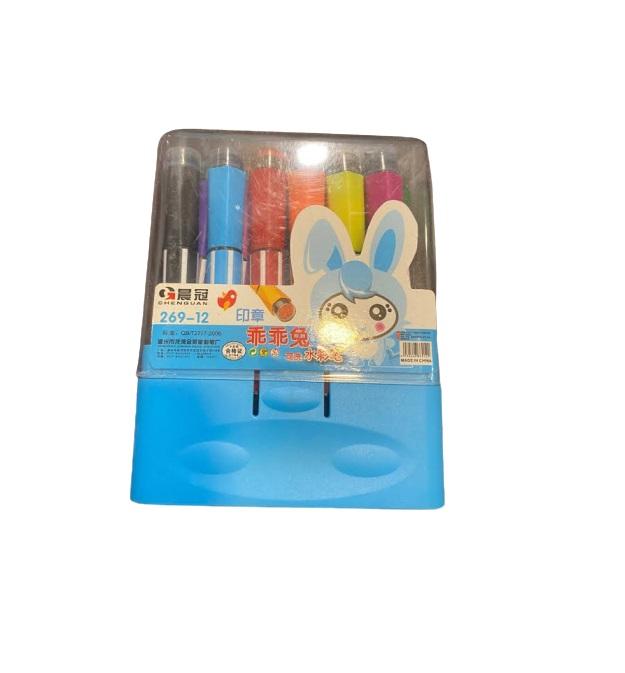 Trusa de carioci cu stampila Vision, 12 culori [2]