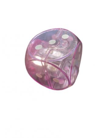 Ascutitoare Vision roz dubla cu rezervor sub forma de zar- 4 cm [2]