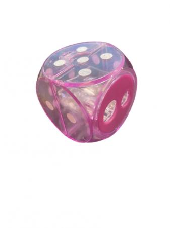 Ascutitoare Vision roz dubla cu rezervor sub forma de zar- 4 cm [1]