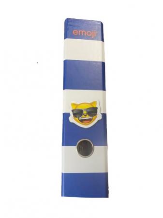 Biblioraft A4 Vision, 8 cm, cu model emoji, albastru [1]