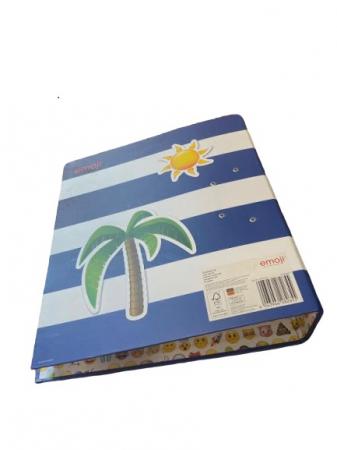 Biblioraft A4 Vision, 8 cm, cu model emoji, albastru [3]