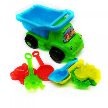 Camion de nisip, Vision,  cu unelte si forme de nisip, 26 cm, 8 piese [1]