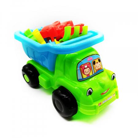 Camion de nisip, Vision,  cu unelte si forme de nisip, 26 cm, 8 piese [0]