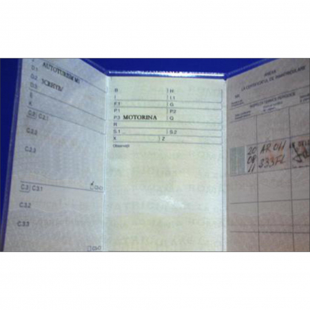 Coperta talon auto tip nou Vision, Transparent, 116 x 213 mm, pachet de 50 buc [2]