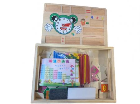 Cutie educativa multifunctionala Vision, din lemn [0]