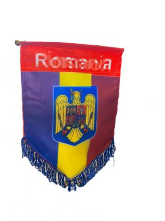 Fanion mare Romania- Vision, cu stema, multicolor [1]