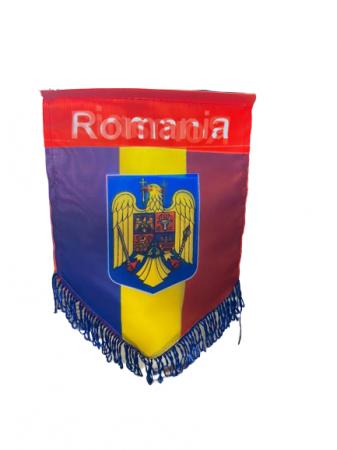 Fanion mare Romania- Vision, cu stema, multicolor [0]