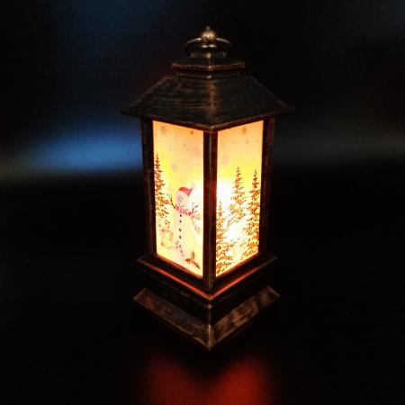 Felinar Craciun - Vision, 20 cm cu lumina LED calda sclipitoare [1]