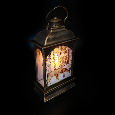 Felinar luminos cu led, motive de Craciun - Vision, 20.5 cm [1]