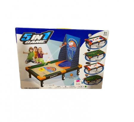 Joc combinat 5in 1 Vision, baschet, hockey, biliard, snookersi fotbal pentru 2 jucatori [3]