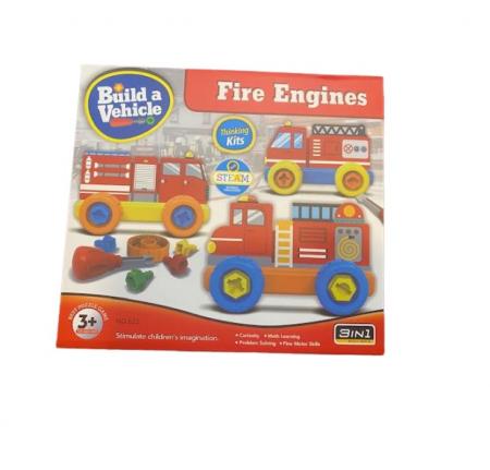 Joc de constructie Vision, 3 in 1, Fire Engines [0]