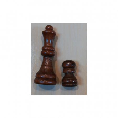 Joc de sah, table si dame- Vision, 33 x 33 cm, cutie si piese din lemn, cu toate piesele incluse [2]